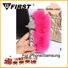 Rabbit Fur case ;Phone Luxury case For Christmas's day coming;Heavy duty phone cases