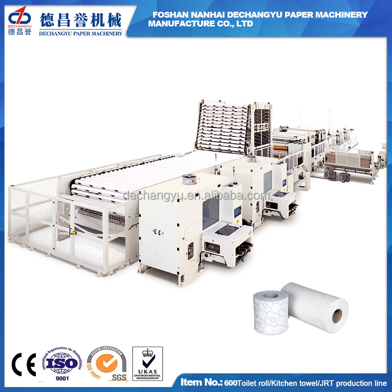 CE ISO Certification full automatic tissue paper Processing machine production line