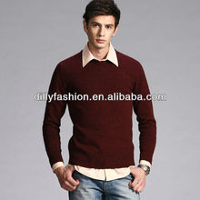 wholesale high quality fashion cashmere sweater new design for men 2014