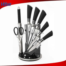 (BK165)Latest hollow handle 7pcs stainless steel knife sets