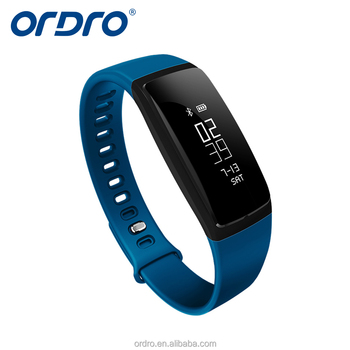 ORDRO 2017 hot sale V07S smart watch bracelet time display calorie call remind bluetooth smart band Android IOS