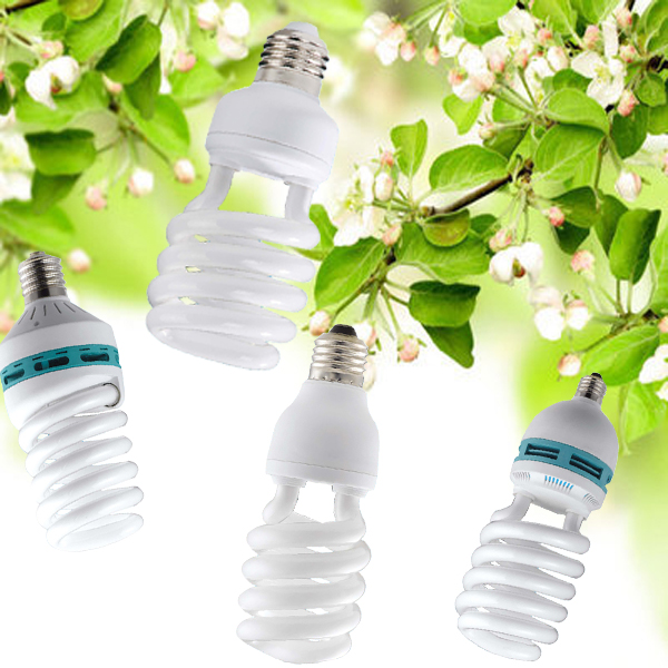 Half Spiral SKD and CKD part Energy Saving Light 220v/110v CFL bulb