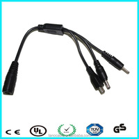 Low voltage PVC jacket custom 22awg power dc split cable
