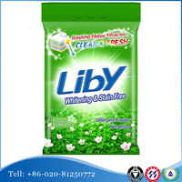 Liby whitening stain free eco friendly detergent powder