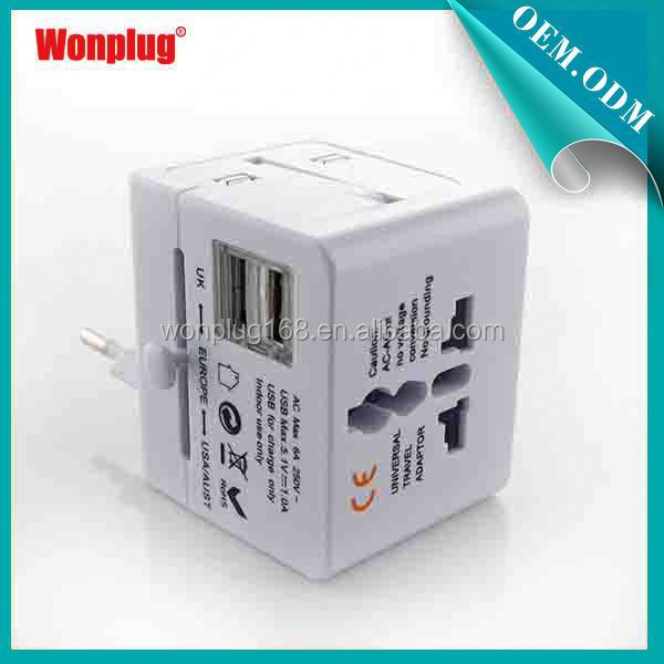 2014 New Fashion 2.1A Wonplug New Arrival Cool Useful All in One shower gifts