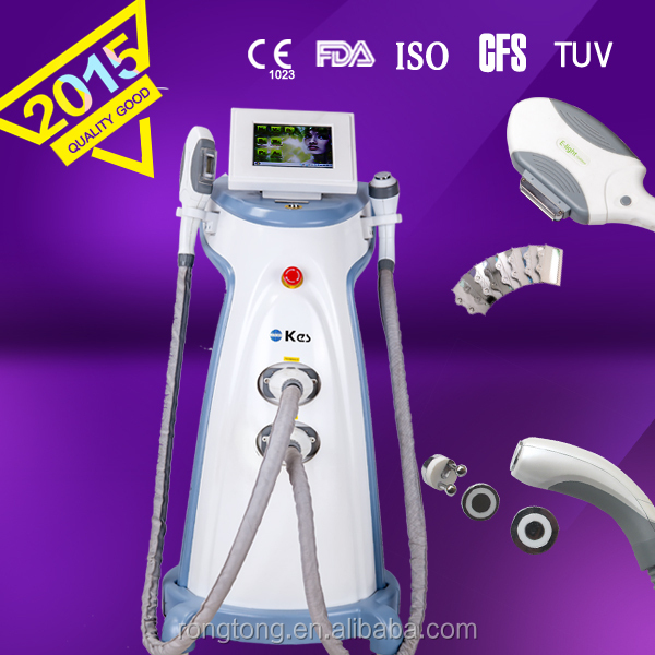 ipl+rf wrinkle removal/face lifting ipl rf depilation device elos technology beauty equipment: e light(ipl+rf)
