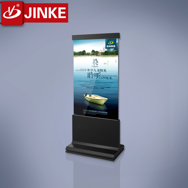 JINKE New Idea of Advertisements Column Sign Stand with Clear Acrylic Sheets for <strong>Displaying</strong>
