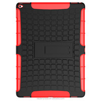 New design tires pattern Kickstand Hybrid robot case for ipad pro 12inch