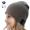 Wireless Bluetooth Beanie Slouchy Knit Beanie Cap Hat with Bluetooth Headphone Headset Earphone Music Audio Hands-free Phone