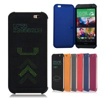 Silicone Smart Matrix Dot View Flip Case For HTC Desire 620