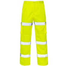 Hot mens Hi vis waterproof workwear coal mining used cargo work pants reflective with knee pad zipper crotch pants