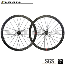 Velosa full carbon cyclocross bike wheels 38mm clincher carbon wheels cyclocross wheels disc brake wheelsets