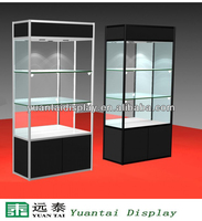 Rectange aluminum glass display showcase