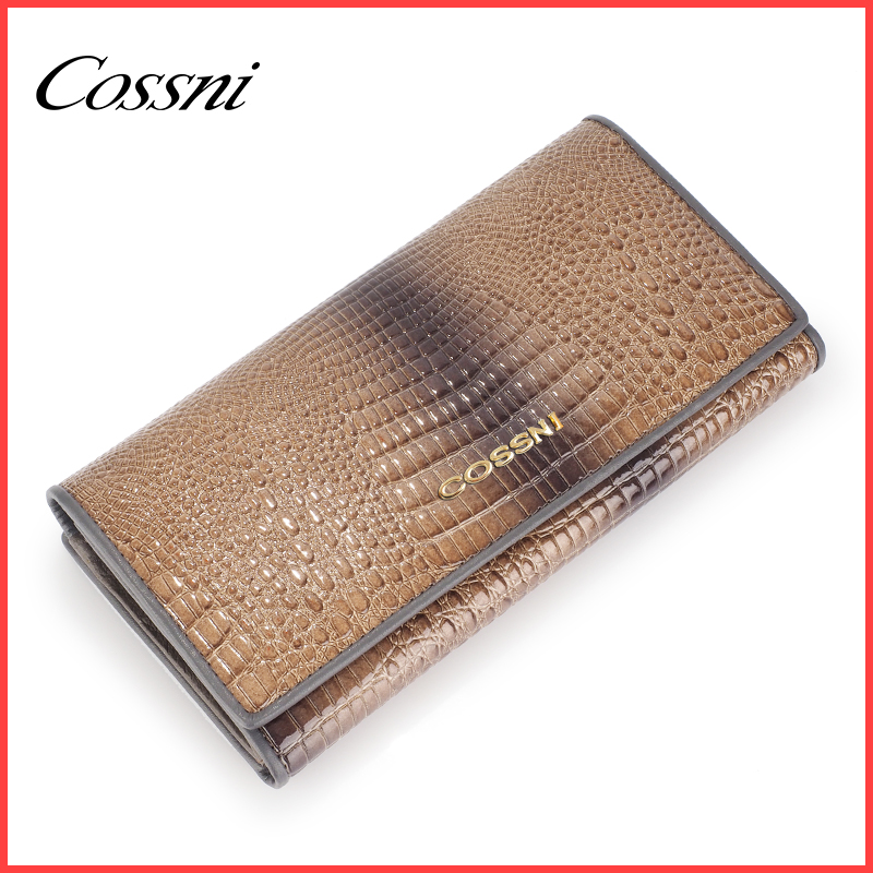 Hot selling ladies leather long slim purse women wallet,lady travel wallet guangzhou manufacturer,billetera