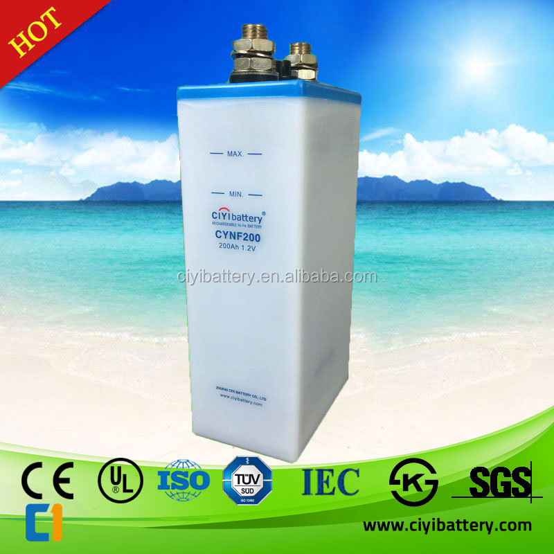 NI-FE Battery Nickel Iron Battery 12V 24V 48V 200AH Batteries for Solar System