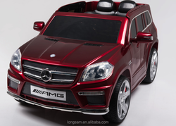 Cheap kids electric cars licensed Mercedes Benz GL63 AMG Kids Rechargeable Battery Operated Toy Car Official ride on car