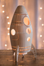 Nautical Rocket Nightlight Wooden Lantern