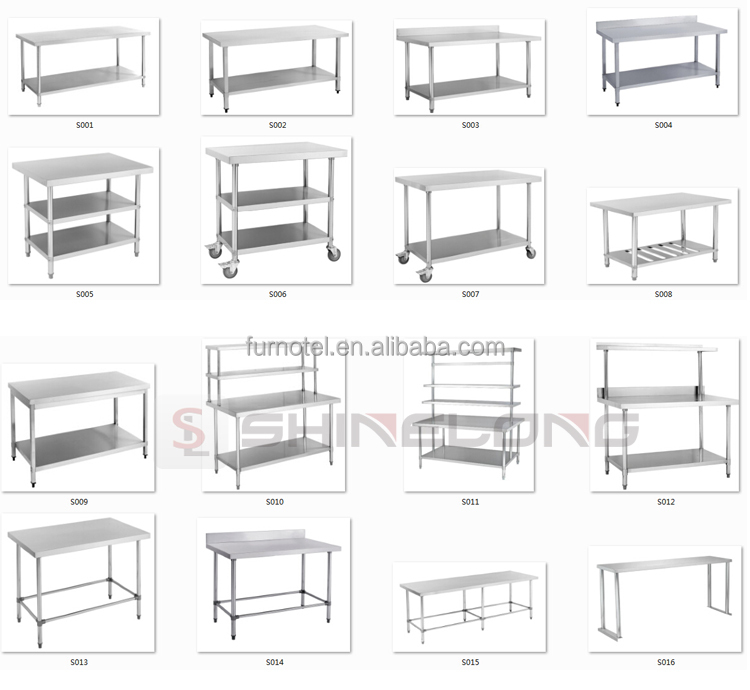 Commercial Hot Sale Hotel Restaurant Kitchen Equipment Stainless Steel Work Table/Bench