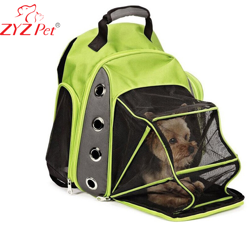 Soft expanded pet bag dog carrier backpack cat travel cage on sale