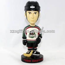 sportsman ice hockey player toys polyresin nodding head pa14-07