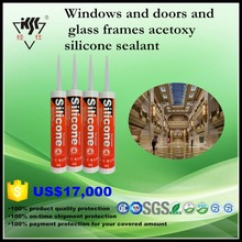 Windows and doors and glass frames acetoxy silicone sealant