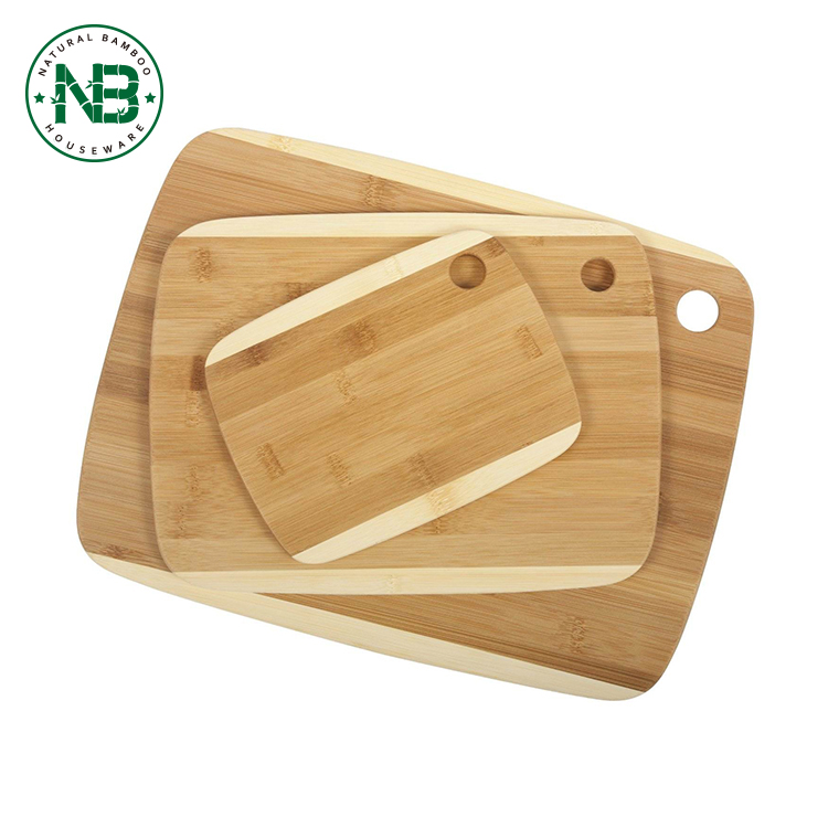 3 Pieces Bamboo wholesale custom wood cutting board sets for the kitchen