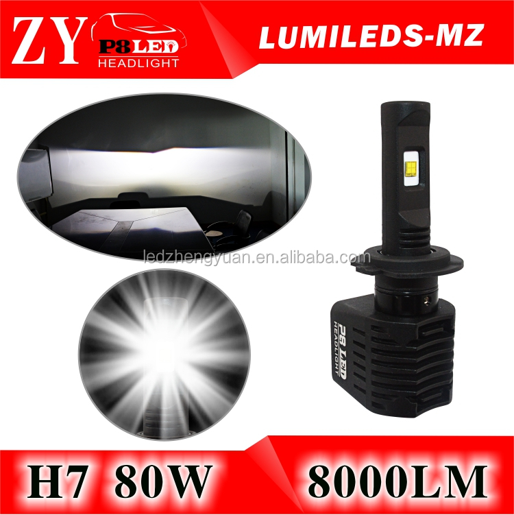 High power automotive led light h4 auto led h7