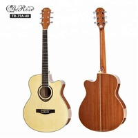 High quality 40 inch cutaway China acoustic guitar made in China