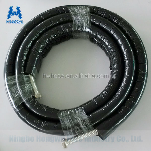 stainless steel 304 316L annular metal hose covered with EPDM insulation pipe for solar heating