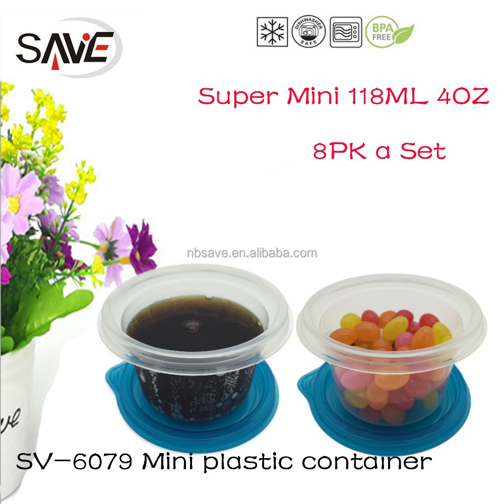 2016 New design super mini air-tight ice cream packaging container small size plastic ice cream containers for kids