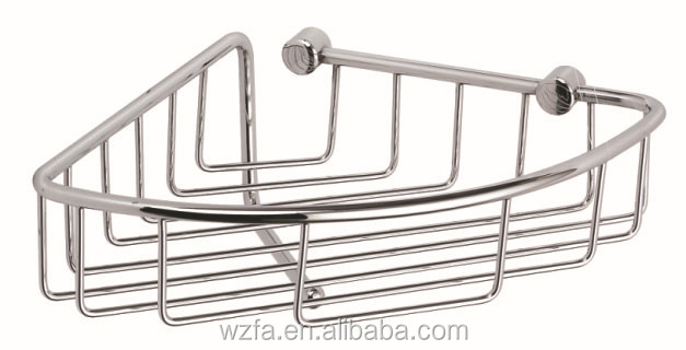 FARLO Triangle single deck bath shelf baskets triangle shaped