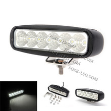 Ip68 4x4 accessory 18w led driving light 6inch head light led jeep atv suv