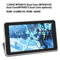China cheap tablet pc android 4.2 MTK 8312 dual core 7 inch smart tablet 3G dual sim card windows software tablet pc