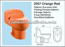 siphonic one-piece toilet 2057-orange red