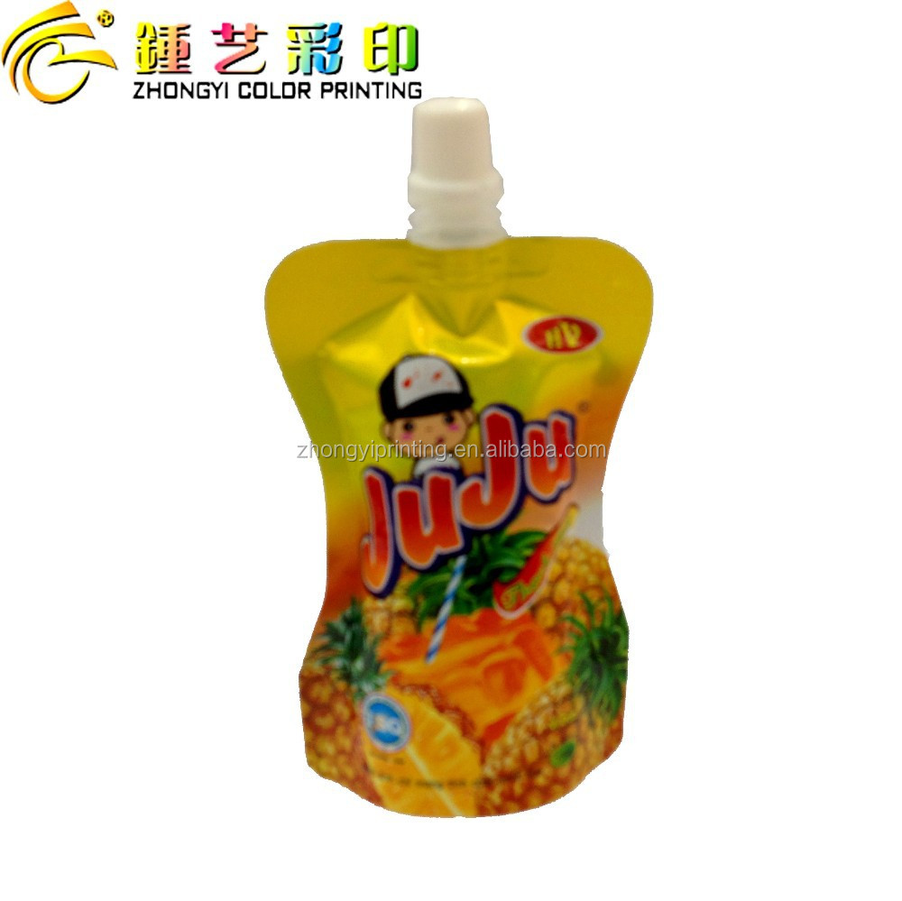 Zhongyi Printing Special-shape standing pouch with spout and cap,plastic food packing bag
