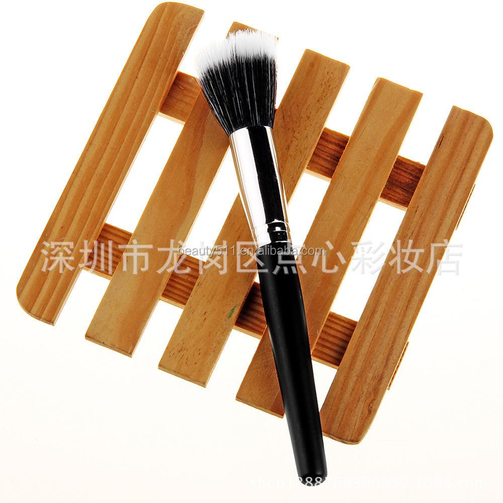 Single brush two-color flat black silver single makeup brush beauty tools blush brush foundation brush