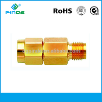 RF coaxial SMA male to SMA female adapter connector