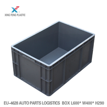 Large duty euro plastic stacking container attached lid plastic box