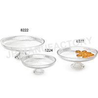 25cm Clear Round Acrylic Cake Stand Wedding