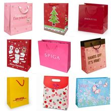 recycled wine paper bag promotion packing paper bag