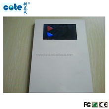 "4.3""video card/lcd video brochure card/greeting video card"