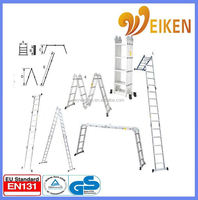 WK-104 with platform four parts industry multipurpose ladder