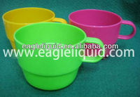 plastic heat resistance promotion colorful color coffee cup