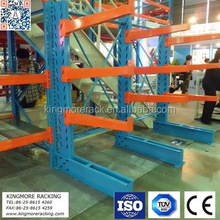 Warehouse cantilever rack for long mid-duty materials storage