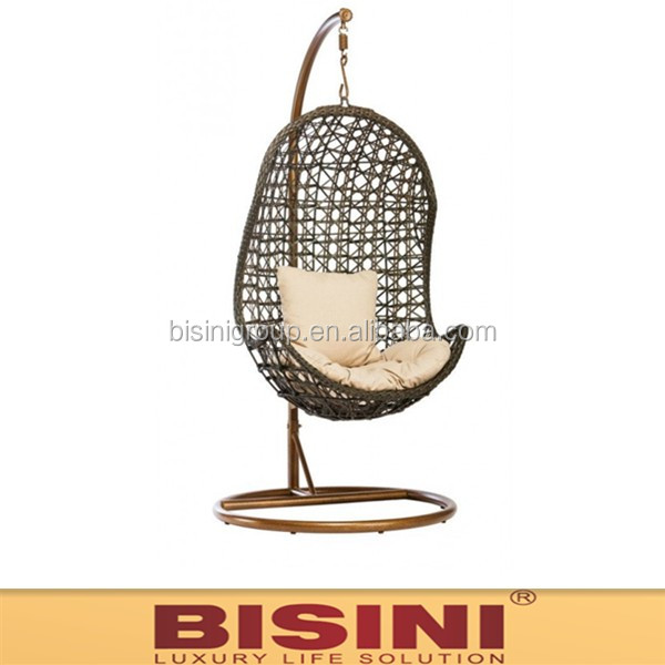 Patio/Garden leisure ways rattan swing chair/ hanging swing(BF10-R716)