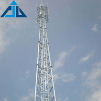 High voltage electric transmission lattice tower for power