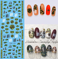 Fashion Manicure Decorations Nail Art Water Transfer Stickers Custom Nail Decals