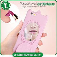 China factory tpu phone case of diamond studded cell phone case with mirror hidden for iphone 5 back cover