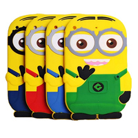 3d kids cartoon silicone despicable me minion case For ipad air /ipad 5,50pcs/lot