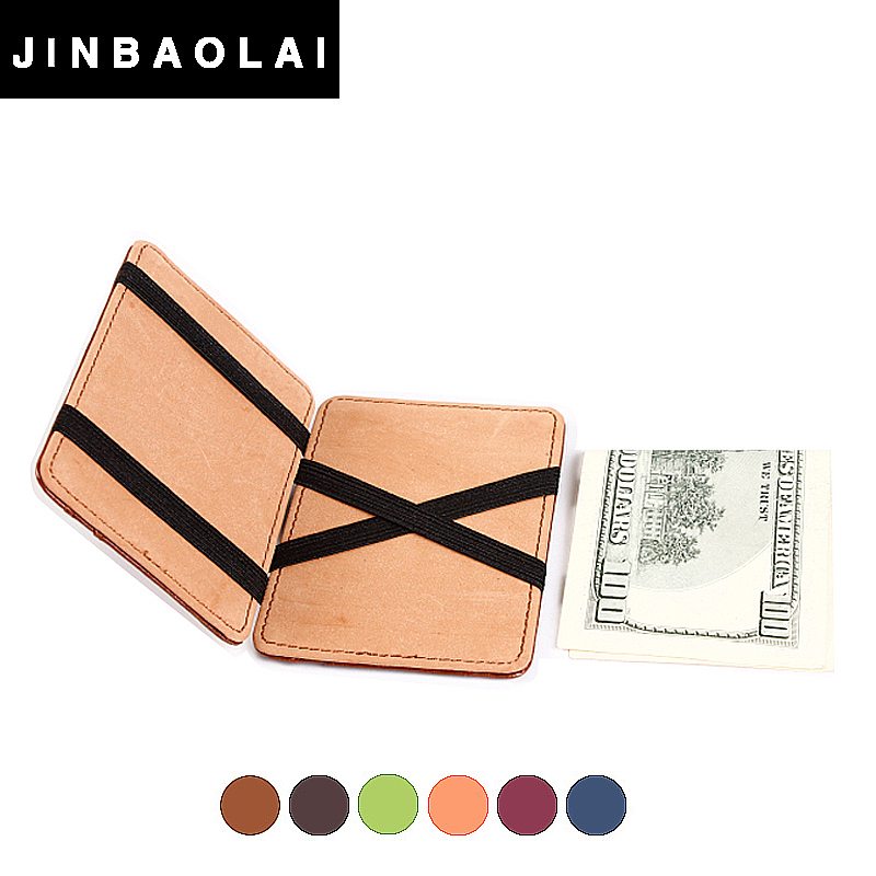 PU leather magic <strong>wallet</strong> with elastic strap